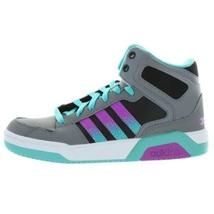 Boys Grey Teal Purple Neo Casual Shoes Medium D,M